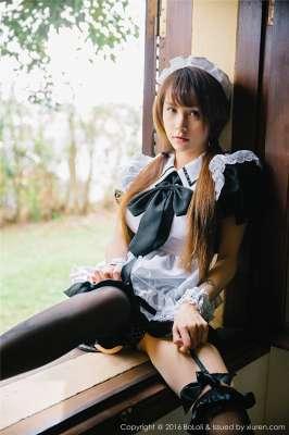 波萝社大奶美女夏美酱女仆制服写真图片
