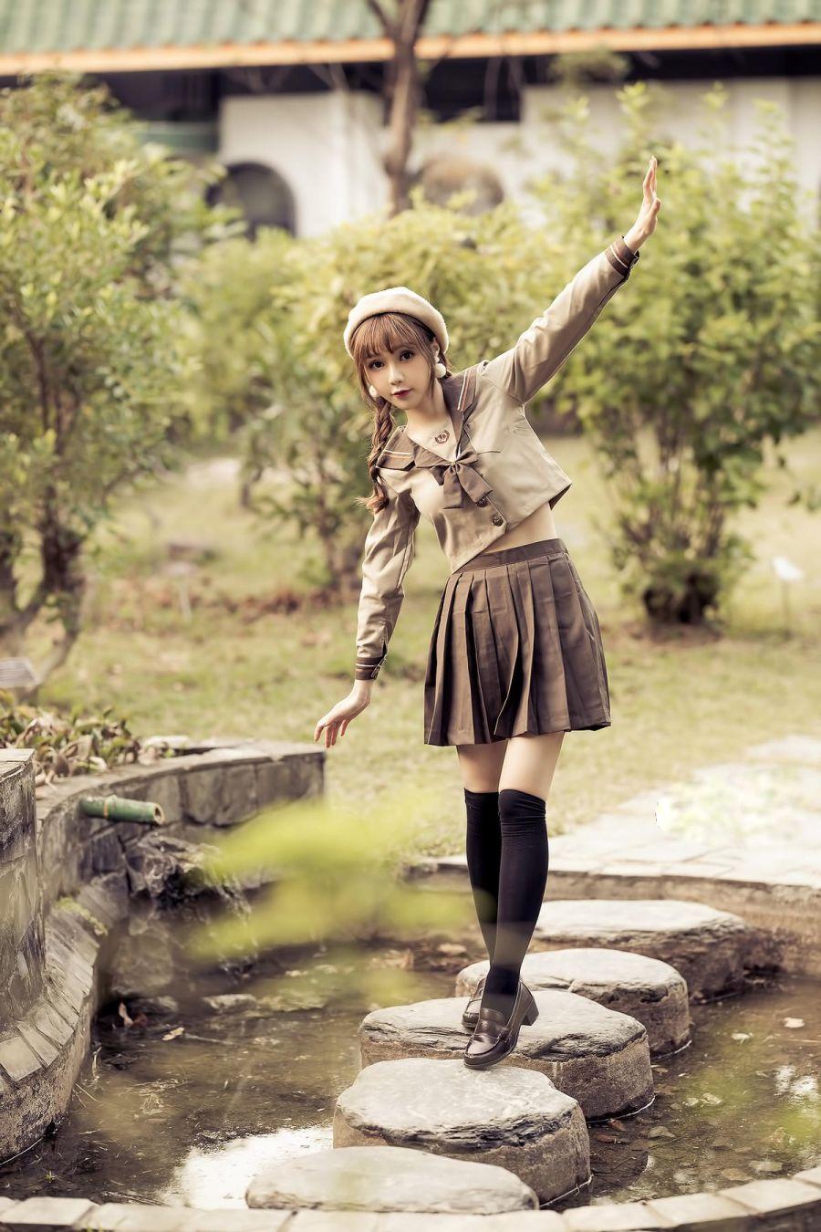 日系风超甜超可爱的邻家妹子