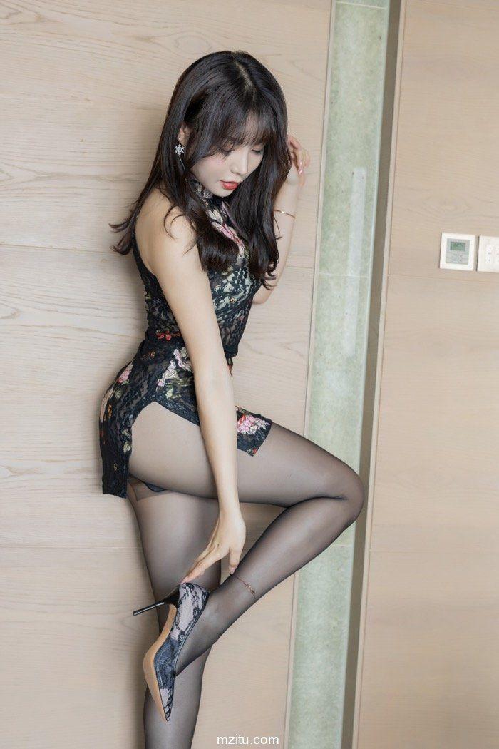 梦想中的长发美女黑丝袜旗袍